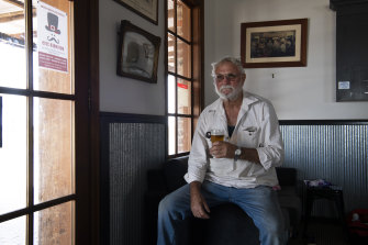 Local Sidney Kinsey at the Nevertire Hotel: 'This drought has just been hanging around too long.'
