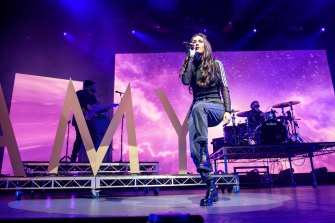 Amy Shark was among the many performers at the Home Front concert.