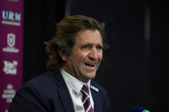 Sea Eagles coach Des Hasler is one win away from another grand final.