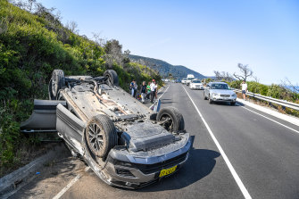 Bad driving is one of the hazards of the Great Ocean Road.