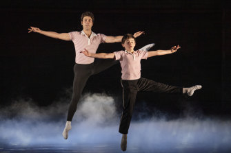 Aaron Smyth, left, and Wade Neilsen in the Australian production of Billy Elliot.