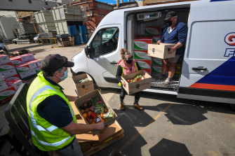 Preparation for food deliveries in Shepparton.