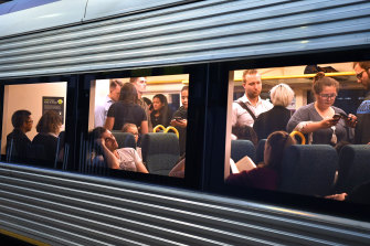 Commuters have to rely on infrequent and crowded V/Line trains