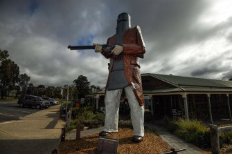 The statue of Ned Kelly at Glenrowan