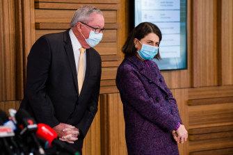 NSW Premier Gladys Berejiklian and Health Minister Brad Hazzard.