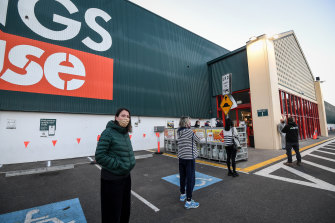 Bunnings back in action