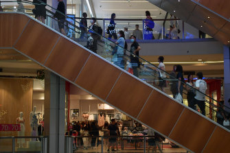 Shoppers flocked to some shopping centres, including Westfield Chatswood.