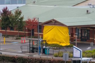 The North West Regional Hospital is closed in Burnie, Tasmania.