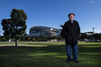 """Pop's City"": Sydney Olympics mastermind David Richmond at Cathy Freeman Park."