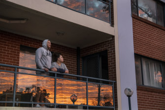 Construction worker Soale with wife Lili-Ane  Fekitoa at their Blacktown apartment.