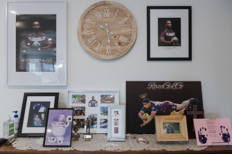 Gone but never forgotten. A tribute to Keith's life is on display inside the family's Austral home.