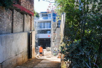 Most of the apartments in the Bellevue Hill complex have been sold off the plan.