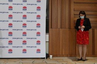 NSW Premier Gladys Berejiklian on Monday.