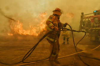 Spot fires threaten to overwhelm RFS firefighters at the Hillville fire last November during a season that involved 186,000 shifts by volunteers.
