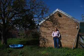 Independent candidate Kirsty O'Connell on her farm near Aberdeen.