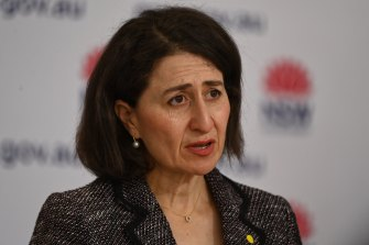 """NSW Premier Gladys Berejiklian says people in the Inner West and Camden areas should be on """"extra alert""""."""