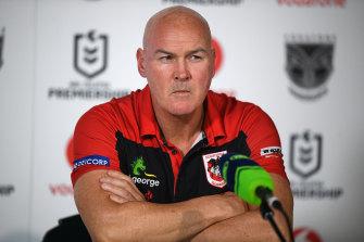 Under-siege Dragons coach Paul McGregor.