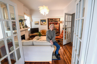 Angela Lowe, 76, at home in South Yarra.