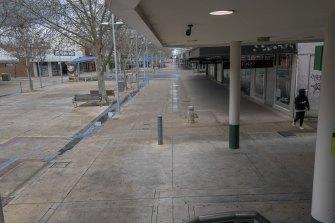 Shepparton near Maud Street is an empty mall.