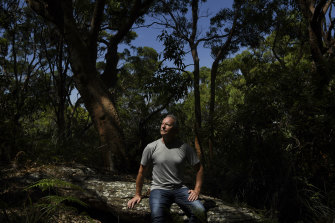 Greg Mullins in the bushland near his home in the Sydney suburb of Cromer.