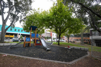 """Cambridge Street Reserve on Monday, one of the many """"pocket parks"""" in Collingwood."""