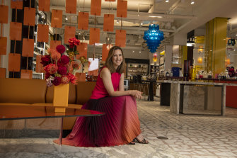 Mecca CEO and founder Jo Horgan in the new boutique in the former Gowings building in Sydney.