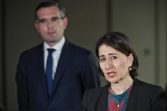 NSW Premier Gladys Berejiklian  with Treasurer Dominic Perrottet.