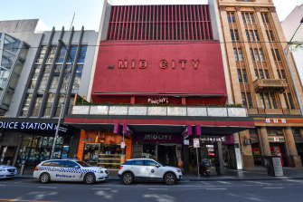 The Hoyts Mid City Centre in Bourke Street is considered one of the few brutalist buildings in the city.