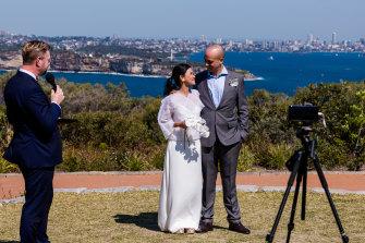 Sydneysiders Nina Miranti and Andrew Conduit take advantage of the new rules on Friday morning.