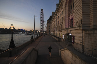Central London is close to empty as the effects of a government-ordered lockdown are felt.