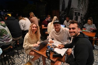 Vani Morrison, Aurelien Schibli and Brenton Parkes started the 5:30 Club in a cafe in Cronulla.