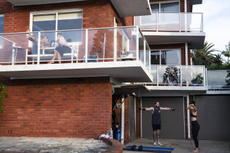 Maroubra residents exercising and relaxing this week.