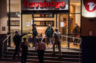 Quarantined travellers have had to exit the Travelodge in Sydney over compliance issues.