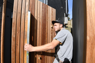 Jayden Fleischer is a fourth year carpentry apprentice who has lost jobs during COVID lockdown but has found another one to continue his apprenticeship.