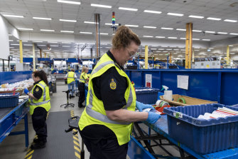 Officers inspect mail visually and physically to detect any illicit items.