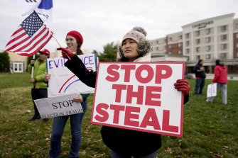 Supporters of President Donald Trump rallying for an unreal event: the theft of an election.