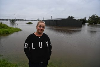Emma-Jane Garrow should be celebrating her daughter's 10th birthday, but instead the family is dealing with the floods.