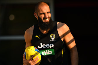 Richmond's Bachar Houli: working hard on and off the field.