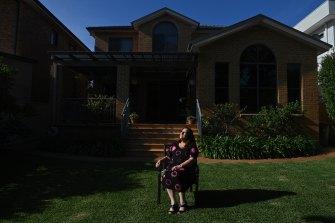 Kristina Gorscak, a metatastic breast cancer patient, at home.
