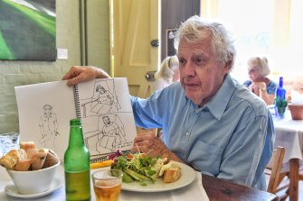 Lunch with Peter Kingston is at the Trust Cafe of the S.H. Ervin Gallery on Observatory Hill.