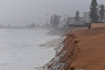 There has been significant beach erosion at Collaroy as strong seas and intense rain impacted the coastline.