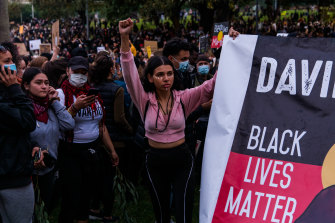 Thousands of protesters marched in Sydney on Saturday.