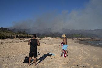 The burn at Little Congwong Beach, La Perouse near Little Bay.
