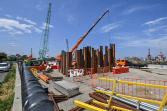 The West Gate Tunnel project has had significant delays and cost increases.