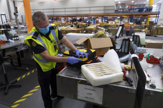 Firearms, car seats containing cigarettes, and molasses wrapped in noodle packets are just some of the items officers uncover at the ABF's mailroom.