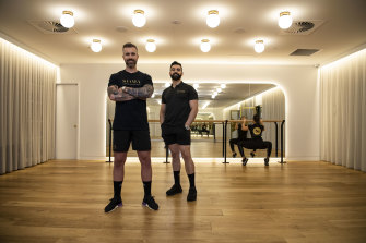 Trainers, Simon Anderson and Franco Atashi and the co-founders of Soma Collection Gym.