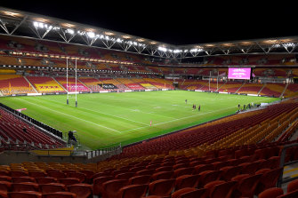 Suncorp Stadium is likely to host what would be the first-ever NRL grand final staged outside Sydney.