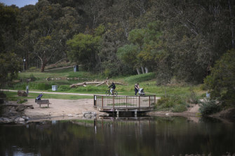 Melburnians have been making use of the lush green space at Darebin Parklands.