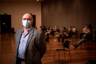 Dr Joe Garra, a GP who is part of Wyndham Council's COVID-19 vaccination hub in Hoppers Crossing.