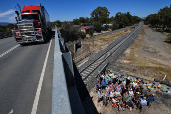The road overpass between east and west in Euroa.